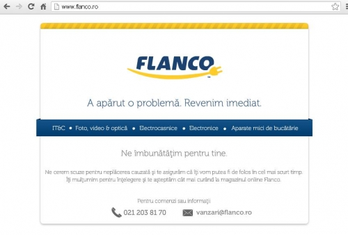 flanco  Black Friday 2012. Site-urile magazinelor online au picat si de data asta in vinerea neagra
