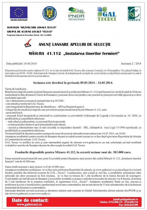 anunt primarie  Anunț lansare apel de selecție – GAL Tecuci